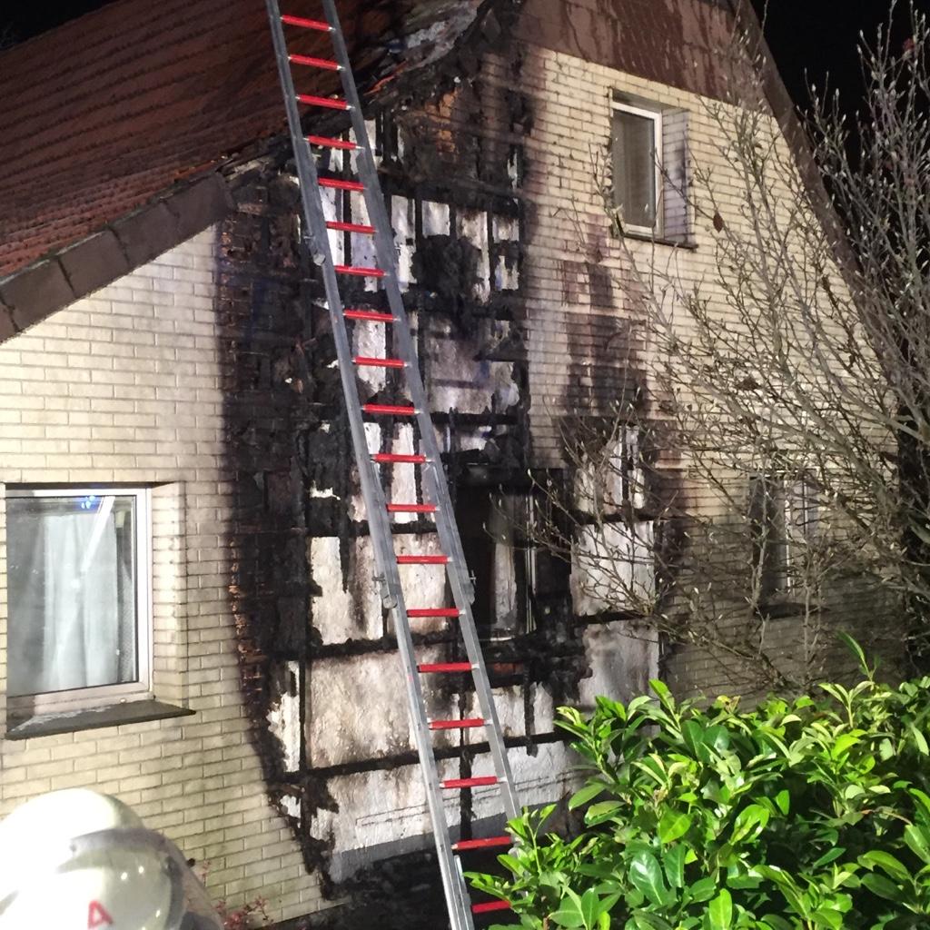 Brand Außenfassade Hille I